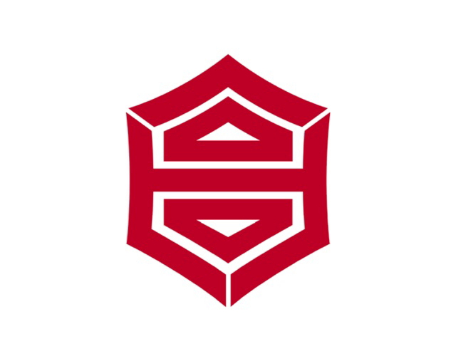 Kanji municipal badge, Japan --