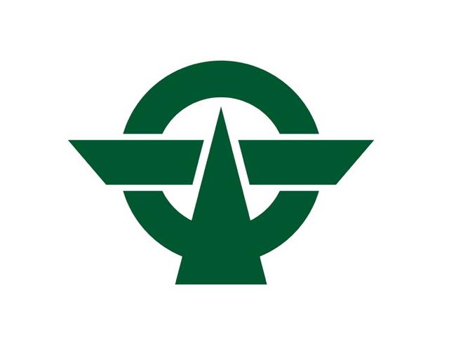 Kanji municipal symbol, Japan --
