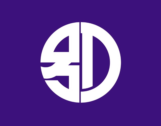 Kanji municipal flag, Japan --