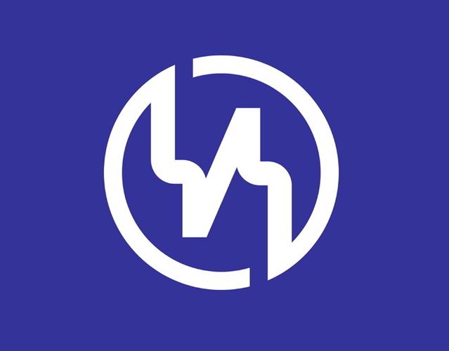 Kanji town logo, Japan --