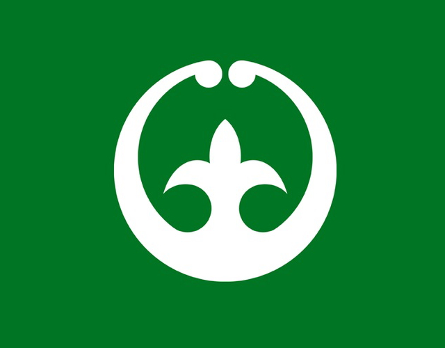 Kanji municipal flag, Japan --