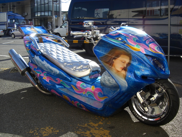 Tuned Japanese scooter --