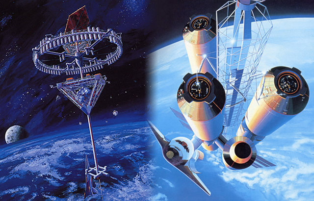 Space Hotel concept by Shimizu Corporation --