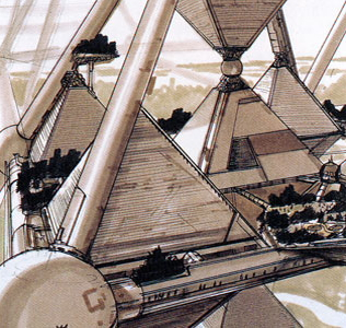 Mega-City Pyramid concept by Shimizu  Corporation --