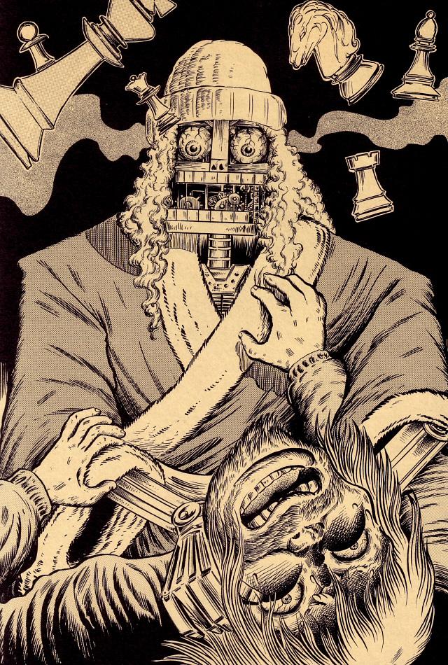 Gothic monster illustration by Tatsuya Morino --