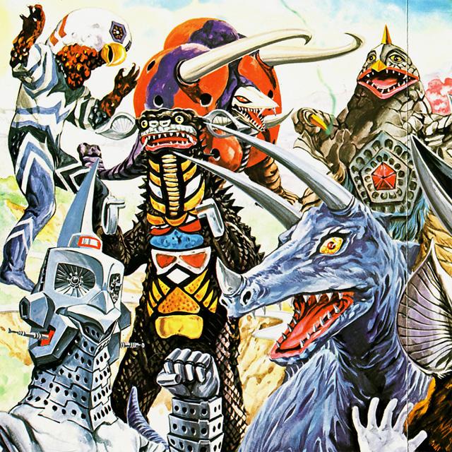 Ultra kaiju painting by Toshio Okazaki --