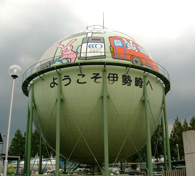 Decorated gastank in Japan --