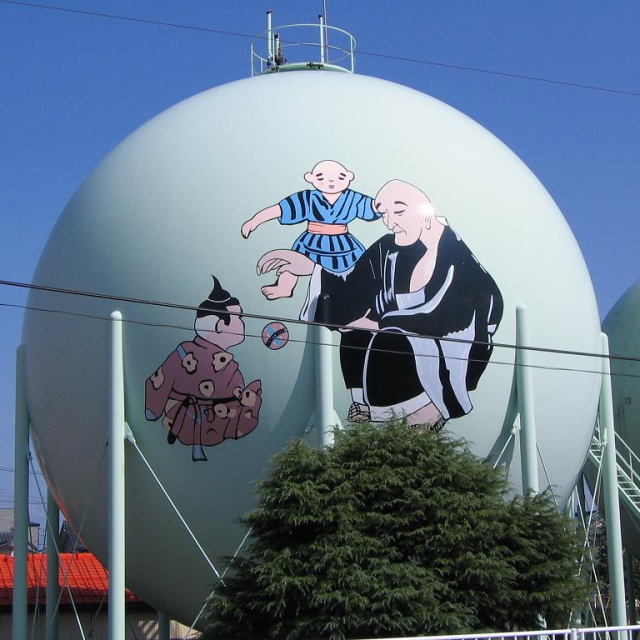 Decorated gas tank in Japan --