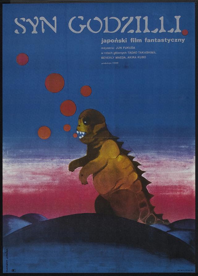 Polish Godzilla poster --