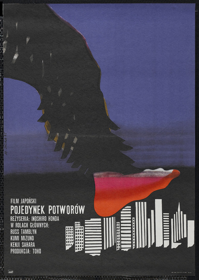 Polish kaiju film poster --