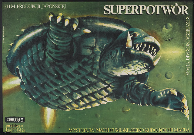 Polish Gamera movie poster -- 