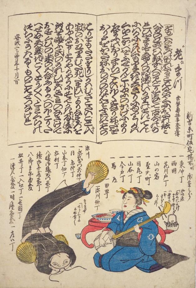 Catfish ukiyo-e print --