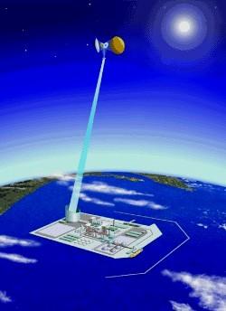 Упрощённая схема станции SSPS.  Японские инженеры обдумывают разные её...
