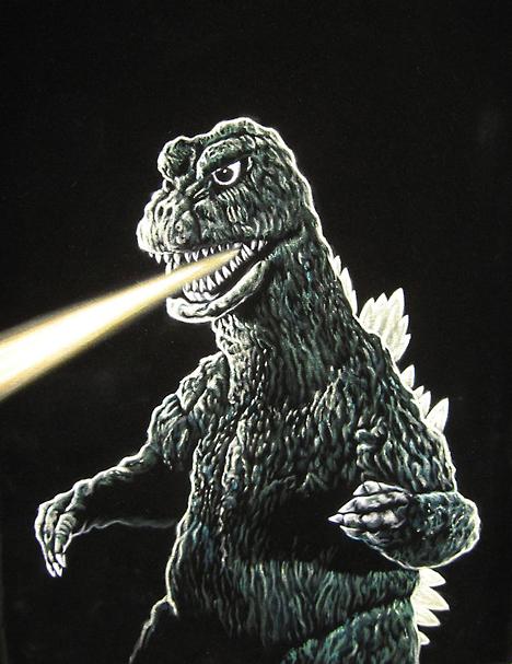 Godzilla by Bruce White --