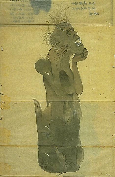 Vintage mermaid sketch --